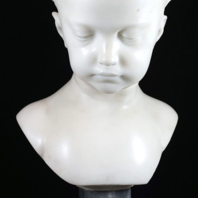 Buste sculpture jeune fille à la natte Saly Salon 1750