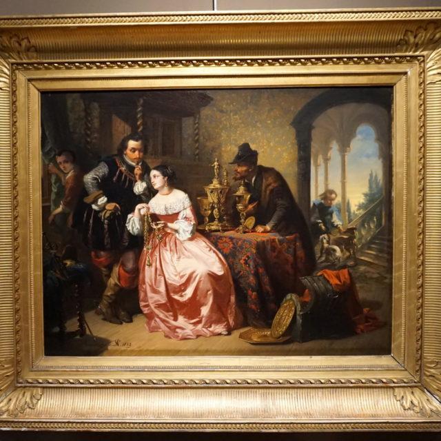 Peinture tableau marchand orfèvrerie Casimir van den Daele