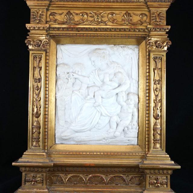 Bas relief sculpture marbre Flandre charité 17e