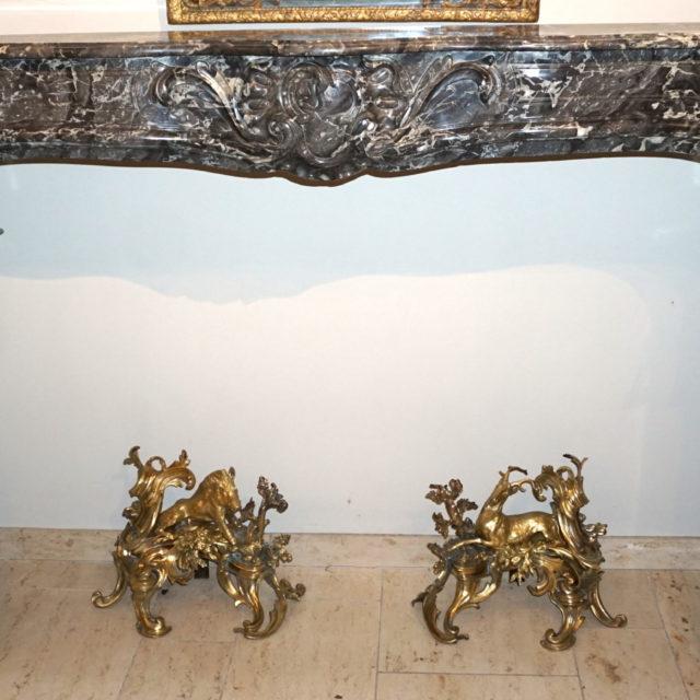 Cheminée marbre époque Louis XV 18e