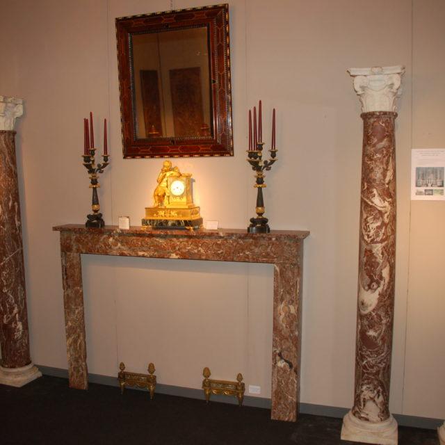 Colonne marbre Rance chapiteau 17e-1