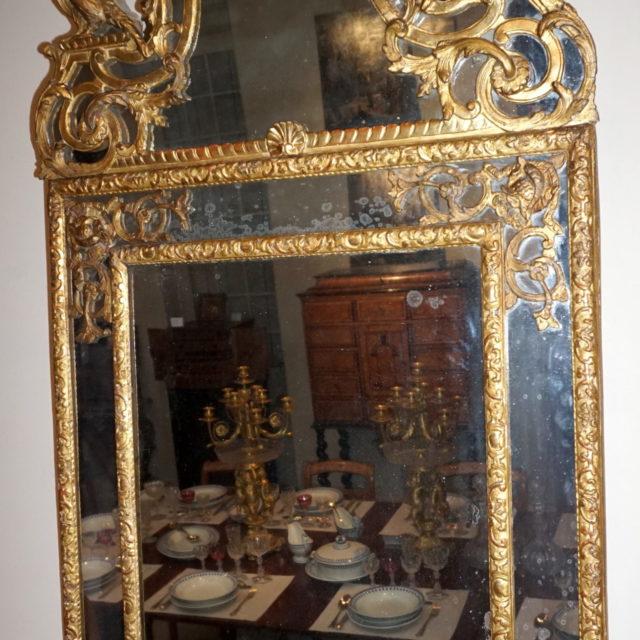 Miroir pareclose bois doré époque Régence