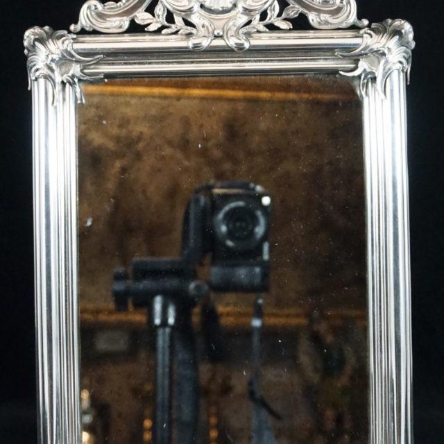 Miroir toilette argent poinçon Kortrijk Nolf 1768