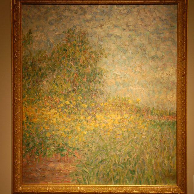 Peinture Léon de Smet paysage pointilliste-1
