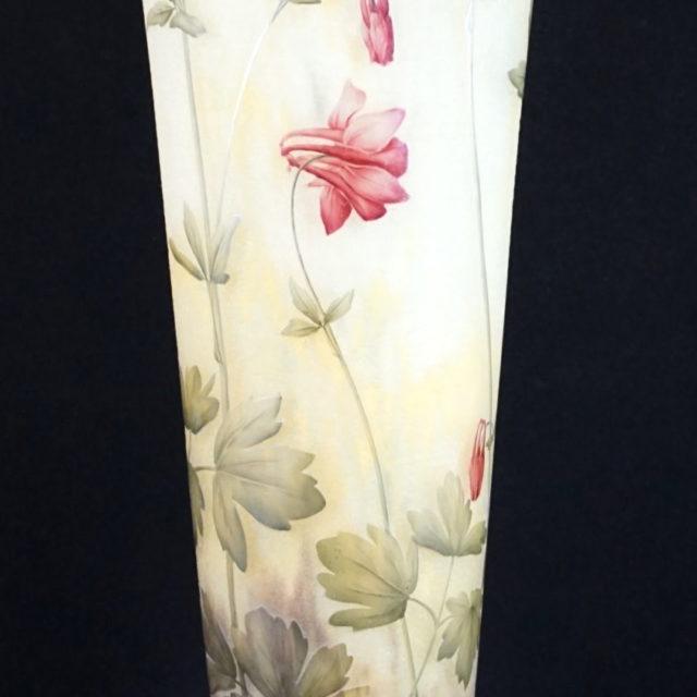 Vase pâte de verre signé Daum Nancy ancolie art-nouveau