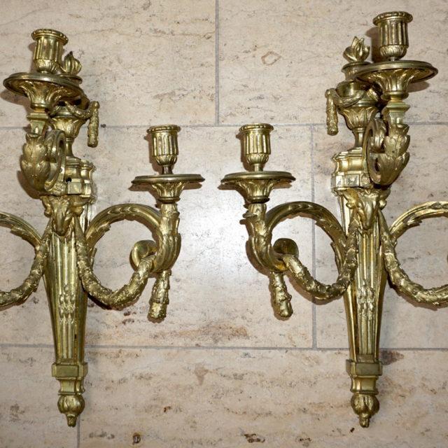 Appliques Delafosse bronze doré époque Louis XVI-1