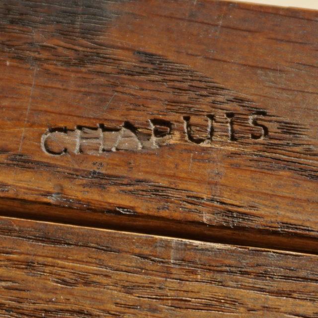 Table acajou directoire estampillée Chapuis-5