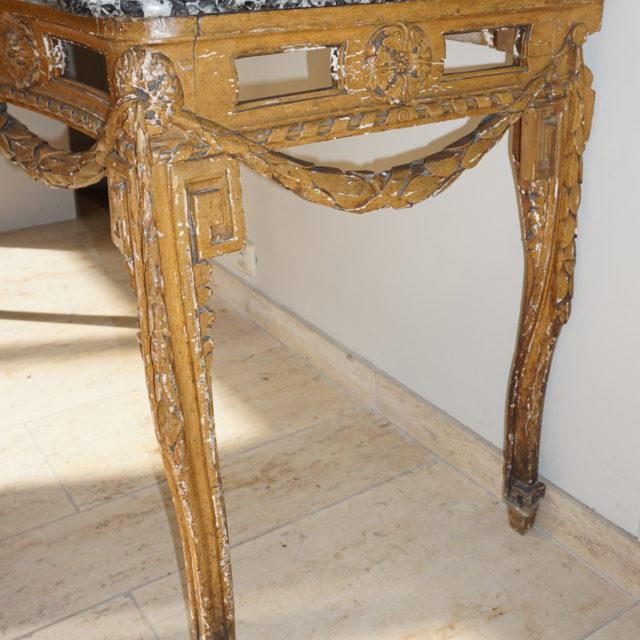Table gibier patiné Louis XVI-3